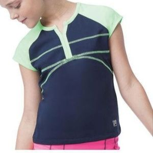 FILA Girl's Glow Cap Sleeve Top Size Large (12-14)